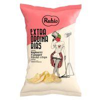 Chips mit Himbeere und Pfeffer Aroma
