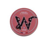 Weiss Orange Perlen mit Dunkler Schokolade