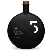 5 Oil, Natives Olivenöl Extra BIO, schwarze Flasche im Karton