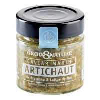 Meeres-Kaviar mit Artischocke und Meeressalat