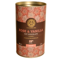 Heiße weiße Schokolade mit Rose & Vanille (29%), BIO