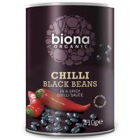 Biona Schwarze Bohnen in Chilisauce, BIO