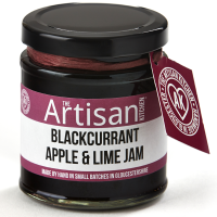 Schwarze Johanissbeere-Apfel-Limetten Konfitüre