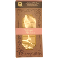 Weiße Schokolade (29%) mit Vanille und Rosen, BIO
