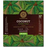 Kokosmilch Schokolade (55%), ohne Milch