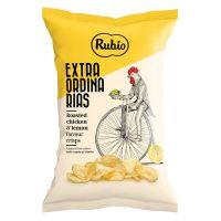 Chips mit Grillhähnchen und Zitrone Aroma