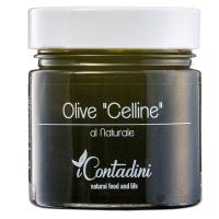 Schwarze Celline Oliven in Lake, 230g