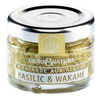 Senf mit Basilikum und Wakame Algen
