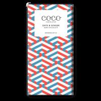 Dunkle Schokolade (60%), mit Datteln & Ingwer