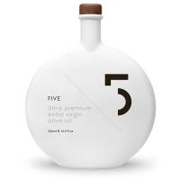 5 Oil, Ultra Premium Natives Olivenöl Extra, weiße Flasche