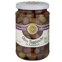 Taggiasca-Oliven in Salzlake, 290g.
