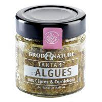 Algen-Tartar mit Kapern und Gewürzgurke