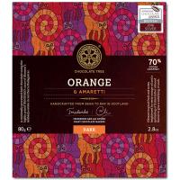 Dunkle Schokolade (70%) mit Orange & Amaretti, BIO