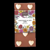 Vollmilchschokolade mit weißen Herzen