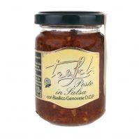 Tealdi Pesto aus getrockneten Tomaten mit Basilikum Genovese, 130g