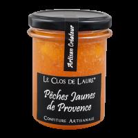 Konfitüre aus Pfirsichen der Provence mit Makronen