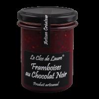 Himbeerkonfitüre mit dunkler Schokolade