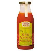 Provencalische Suppe mit Tomaten und Basilikum