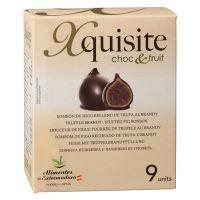 Feige mit Trüffel-Brandy-Füllung und Schokoladenüberzug, 9er-Packung
