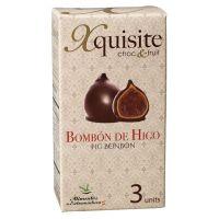 Feige mit Trüffel-Brandy-Füllung und Schokoladenüberzug, 3er-Packung