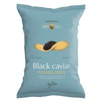 Chips mit schwarzem Kaviar Aroma