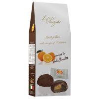 Orangen-Fruchtgelees mit dunkler Schokolade