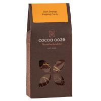 Dunkle Schokolade (53,8%) mit Orange und Knallbrause