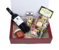 Geschenkset Italienischer Abend, Geschenkkorb mit italienischen Spezialitäten, Wein ( 13,5 %), Pasta