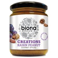 Biona Rosinen-Erdnuß Gourmet-Creme, BIO